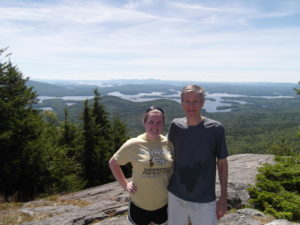 Roz with daughter, Caroline, in the White Mountains of New Hampshire