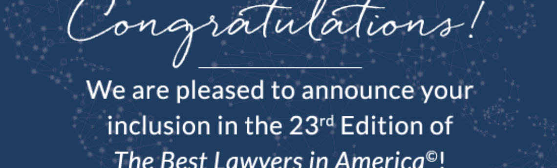 Roz Thomsen listed in 23rd Edition of The Best Lawyers in America©